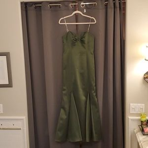 Olive green formal dress